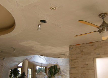 Before: Ceiling repair example in an Arizona home