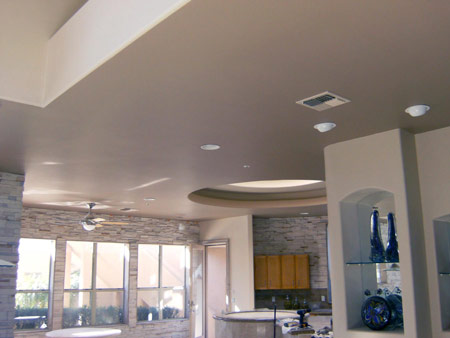 After: Ceiling repair example in an Arizona home
